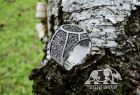 Raven Banner Ring Loki Mask Ring Viking Ring Mammen Style Ring Sterling Silver Norse Ring Viking Jewelry (based on Cammin Casket)