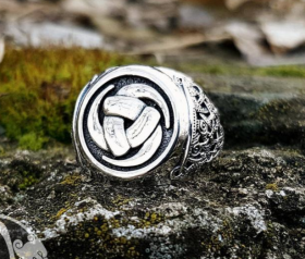 Triple Horn of Odin Ring Viking Ring Odin