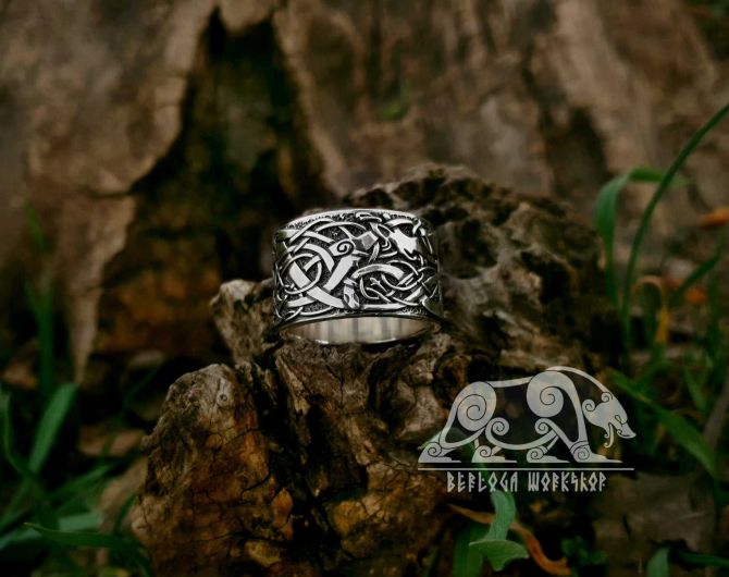 Urnes Viking Ring Urnes Style Ring Sterling Silver Scandinavian Norse Ring Urnes Stave Church Viking Jewelry