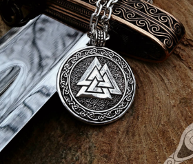 Valknut Viking Pendant Sterling Silver Viking Necklace Valknut Pendant Scandinavian Norse Viking Jewelry