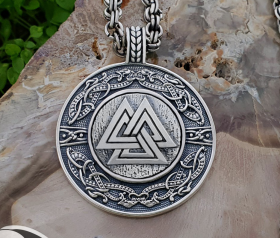 Valknut Viking Pendant Sterling Silver Viking Necklace Viking Urnes Valknut Pendant Scandinavian Norse Viking Jewelry (Tandgarve, Sweden)