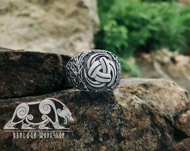 Triple Horn of Odin Ring Viking Ring Ringerike Style Sterling Silver Ring Viking Deer Ring Scandinavian Norse Ring Viking Jewelry