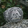 Valknut Ring Viking Ring Ringerike Style Sterling Silver Ring Viking Deer Ring Scandinavian Norse Ring Viking Jewelry