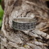 Viking Ring with Traditional Viking Ornament Sterling Silver Ring Scandinavian Norse Viking Jewelry (5)