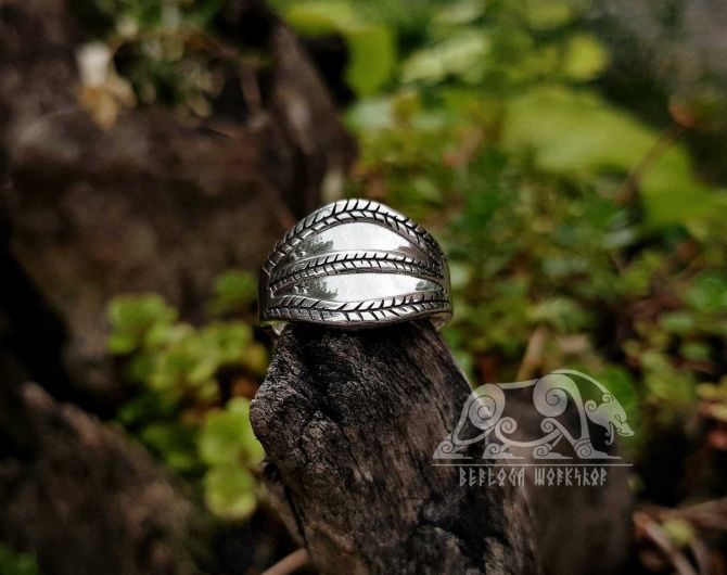 Gotland Replica Ring 10th cent. Viking Ring Traditional Viking Design Sterling Silver Ring Scandinavian Ring Norse Ring Viking Jewelry (3)