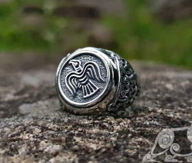 The Raven Banner Ring Mammen Style Viking Raven Ring Sterling Silver Viking Ring Scandinavian Norse Viking Jewelry