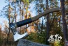 """Hand forged Viking axe """"Storste Tyri"""" in a leather case"""