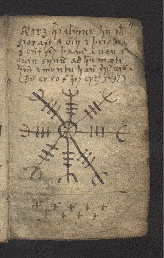 parchemin symbole viking boussole
