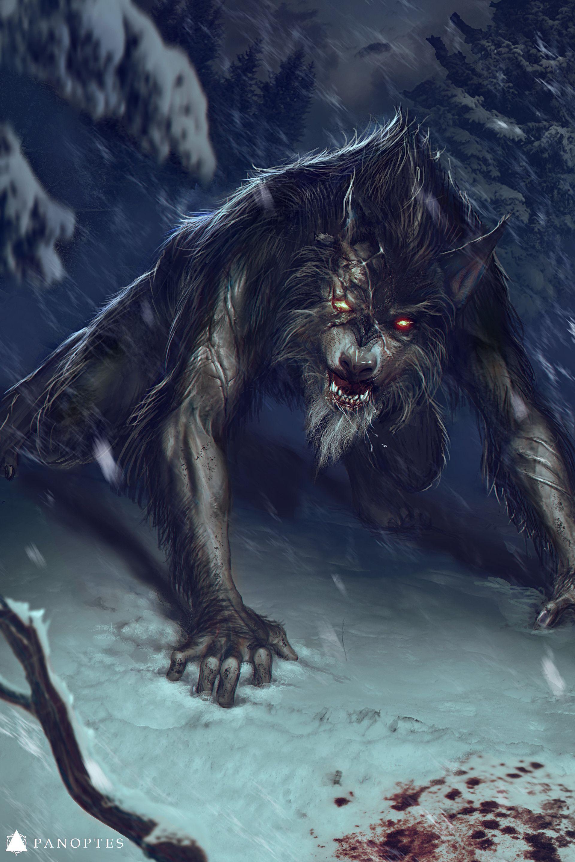 le loup de fenrir en pleine foret