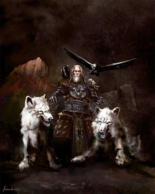 Geri and Freki (Odin's wolves)